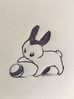 Post-it doodle rabbit thing by RobtheDoodler