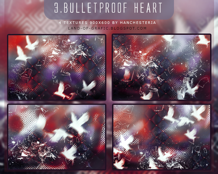 3. 4 Textures Pack 'Bulletproof Heart' by hanchesteria