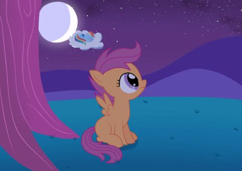 Scootaloo's lonely night by Birdco