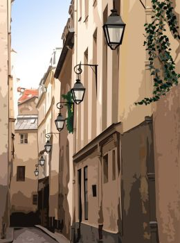 street lamps by rivella