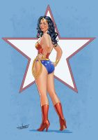Wonder Woman Pin-up by amherman
