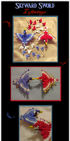 Skyward Sword loftwing kanzashi by EruwaedhielElleth