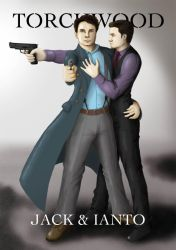 Jack and Ianto kicking ass by Hanni-Elfe