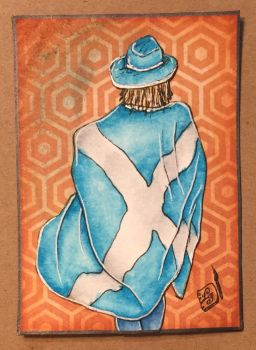 Scottish Flag - draped by ParadoxSketchbook