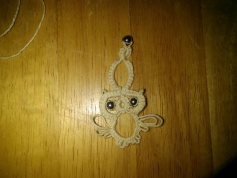 Owl pendant by Moon-Crafter