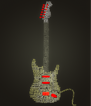 Guitar Typography by kodereaper