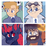 Icon commission pack number 26 by BloodyArchimedes