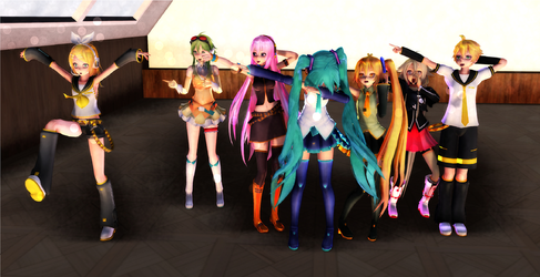 [MMD + pose pack] when squad helps u get noticed by ccandybabe