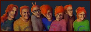 A whole bunch of Weasleys by Peregrinus5Floh