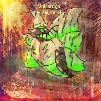 Poison Steel Volcarona [Pokechallenge] by Mechamyu