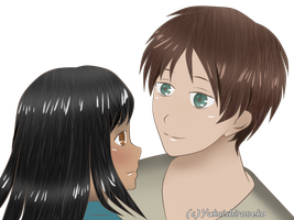 Eren x Katia [Art trade] by Yukaishironeko