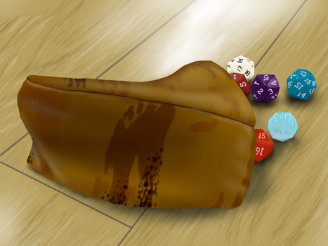 Realism Practice / Speedpaint - Dice Bag by Runic-Scribe