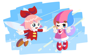 Kirby_Fae (NEW Ribbon and Humanoid Elline) by Chivi-chivik
