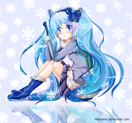 Snow Miku 2013 by MeluuArts