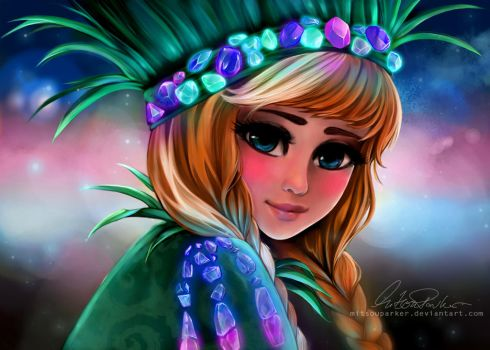 Shimmering Crystals - Anna [Frozen] by MitsouParker