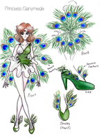 'The New Sailor Moon' Princess Ganymede reference by CraftacularCourtney