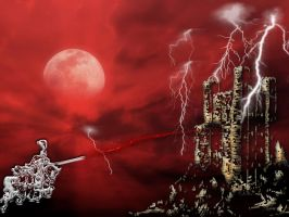 White Knight red moon by butchen
