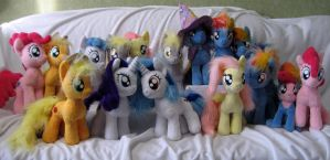 bunch of ponies X) by Rens-twin
