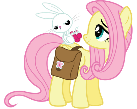 Fluttershy and Angel Bunny by Midnight--Blitz