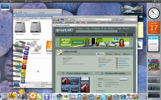 My Desktop in june, 17, 2008 by alexnovelli