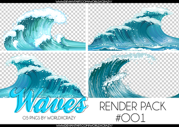 +RENDER PACK//WAVES OO1 by worldxcrazy