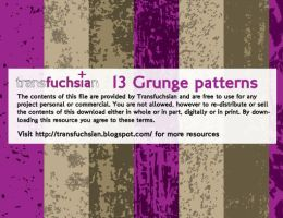 Vector Grunge Patterns by Transfuchsian