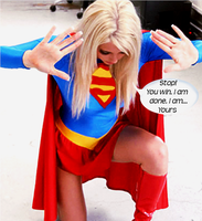 Supergirl on her knees in surrender by McGheeny