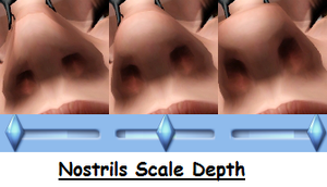 Nostrils Scale Depth by OneEuroMutt