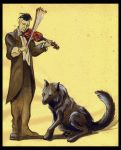 The wolf and the violonist by soys