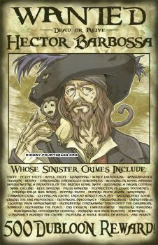 Wanted - Hector Barbossa by missypena