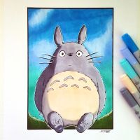 My Neighbour Totoro - Copic Marker Drawing by LethalChris