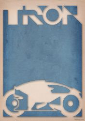 Tron - Light Cycle Poster by 3ftdeep by 3ftDeep