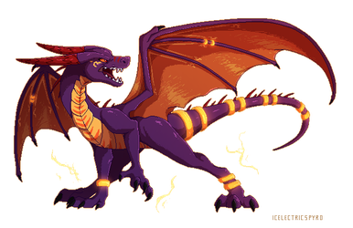 Pixel Blue - commission by IcelectricSpyro