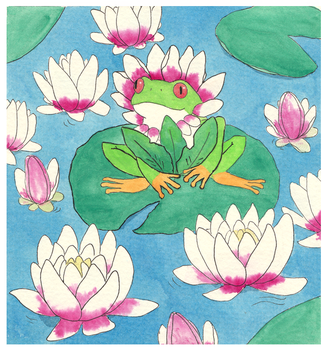 Giveaway: frog in fashion by MooncatsAndSparrows