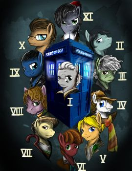 The many faces of Doctor Whooves by DLowell