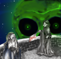Snape kills Dumbledore by caycowa