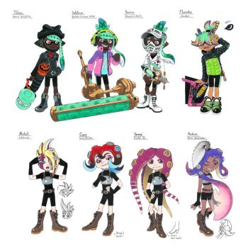 Splatoon OC Teams by Megaloceros-Urhirsch