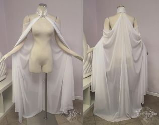 White Elven Cape by Firefly-Path