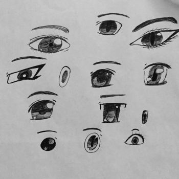 Different Eye Styles by Sarah-The-Lion-Wolf