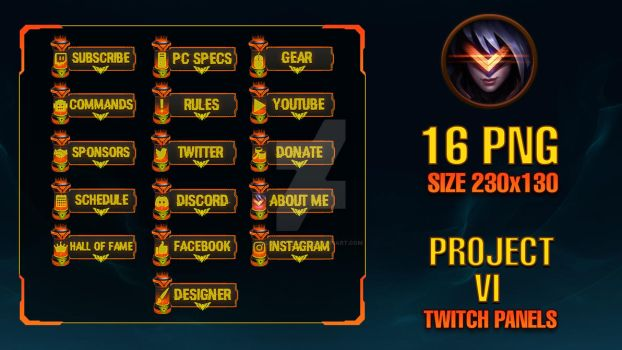 PROJECT VI - Twitch Panels by lol0verlay
