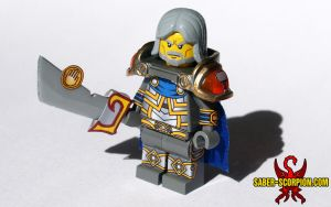 LEGO Highlord Tirion Fordring with Ashbringer by Saber-Scorpion