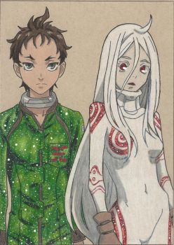 Ganta and Shiro (Galaxified) by arttoinfinity