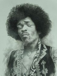 Jimi Hendrix by GraphiteGarden
