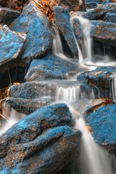 Blue Moss Waterfall by somadjinn