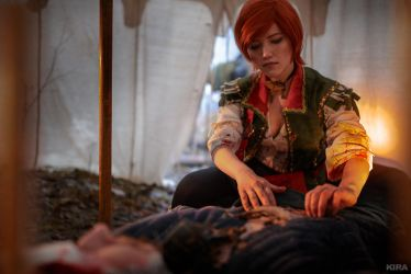 The Witcher 3 Shani cosplay (frame 17) by Lyumos