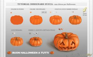 Tutorial Disegnare Zucca di Halloween by Panaiotis