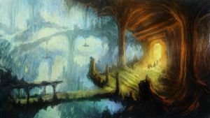 Mines of Moria Speedpainting by JakobHansson
