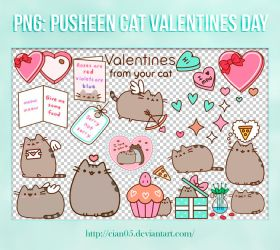 Pack png - Pusheen Cat Valentine's Day [Cian05] by Cian05