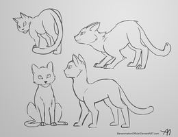 Practicing Cats by BananimationOfficial