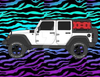 Commission White Jeep Wrangler by Thagirion